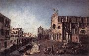 ALBOTTO  Francesco View of Campo Santi Giovanni e Paolo oil painting picture wholesale